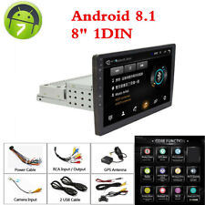 "Adjustable 8"" Android 8.1 Car Stereo Radio GPS Wifi Mirror Link W/ Rear Camera"