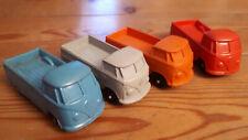 4x  Gummi Auto VW Bulli Bus t1 Transporter split window car tomte rubber vinyl