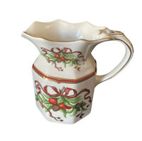 VINTAGE Tiffany & Co Porcelain Tiffany Garland Holiday Ribbon Pitcher, England