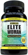 Elite One Daily Multivitamin for Women - Best Vitamins for Hair, Skin, and Nails