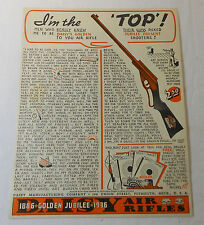 1936 DAISY bb gun ad ~ I'M THE TOP, Daisy Golden Jubilee Ad