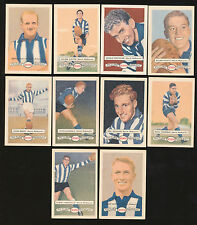 1958 Atlantic Petrol North Melbourne Team Set 10 Cards Picture Pageant Card