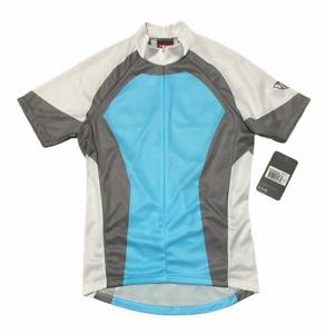 Trek Women's Cycling 1/2 Zip Jersey Shirt SMALL Criterium Pro Blue Gray  NWT