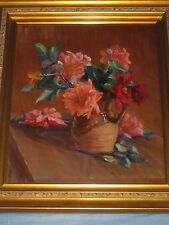 CLARA GREENLEAF PERRY (1871-1960)  FLORAL STILL LIFE OIL PAINTING