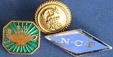 WW2 era badges - Scripture Union, Nursing, Naval button *[12862]