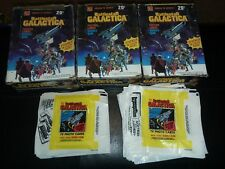 1978 BATTLESTAR GALACTICA empty boxes/wrappers/1200 cards