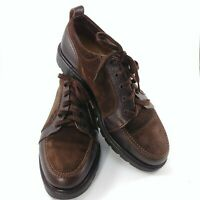 BALLY Mens Size 9.5 Hi Cut Leather Brown Suede Lace Up Boot Shoe Made in Italy