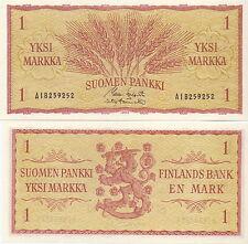Finnland / Finland - 1 Markka 1963 UNC - Pick 98? Koivisto/Törnroth