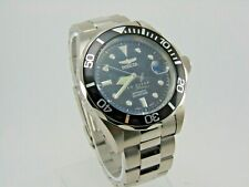 Mens Invicta Pro Diver Automatic Watch Stainless Steel Black Dial