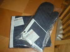 CHEFS Denim Apron and Denim Oven Mitts BRAND NEW