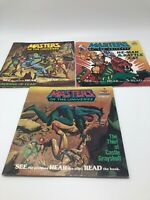 Masters of the Universe He-Man Grayskull Kid Stuff Records Books 83-84 Lot of 3