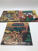 Masters of the Universe He-Man Grayskull Kid Stuff Records Books 83-84 Lot of 3