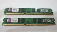 8GB KINGSTON (2x 4gb) RAM MEMORY DDR3 PC3 KVR1333D3N9K2/8G Kit of 2 1.5v LOW PRO