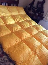 More details for feather eiderdown/ quilt poldrob polish gold brocade plump warm