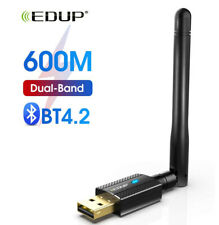 EDUP USB Bluetooth WiFi Adapter Dual Band AC 600Mbps Wireless Dongle for PC 1661