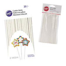 Wilton Cookie Sticks Cake Biscuit Lollipop Pop Sticks Oven Safe White 20 Pack