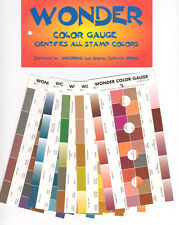WONDER COLOR GUAGE / GUIDE  ID VARIATIONS IN STAMP COLORS    FREE SHIP  #MEG-WCG