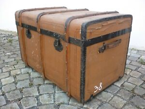 Alter riesiger Überseekoffer - Reisetruhe - um 1880 - Nummer:38