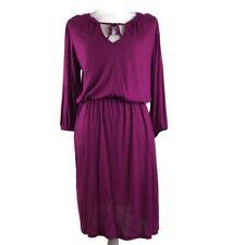 Gap Magenta Elastic Waist 3/4 Sleeve Dress Sz S Front Peep Hole D15