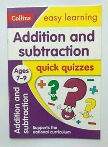 Collins Addition & Subtraction Quick Quizzes Workbook Kids Age 7-9 years New KS2