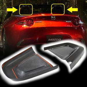Dry Carbon Fit For Mazda MX-5 Miata ND Interior Head Restraint Cover 16 20 L+R