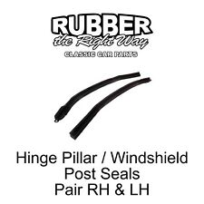 1966 1967 Ford Fairlane Convertible Windshield Post / Hinge Pillar Seals pair