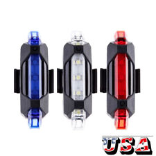 USB RECHARGEABLE BICYCLE LIGHT WARNING MTB LED WATERPROOF FRONT REAR TAIL LAMP