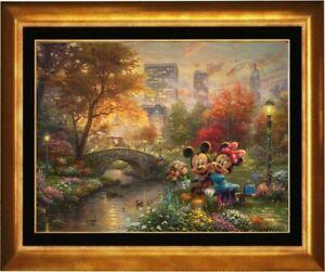 Thomas Kinkade ~ Mickey and Minnie Sweetheart Central Park ~ 18x24 Artist Proof