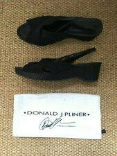 044aeda7d6 Donald J Pliner Russell and Bromley Wedge Sandals Shoes Black 39