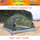 Outdoor 2 Person 4 Season Camping Hiking Waterproof Folding Tent Camouflage C0C5