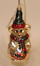 1997 - 1998 Boyd's Bears Glass Christmas Ornament Olaf 391001 #4902/12000 in Box