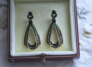 Vintage Jewellery Earrings Rhinestones Antique Art Deco Jewelry