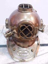 "Antique Morse Divers Helmet U.S Navy Mark V Solid Brass Full Size 18 "" Nautical"