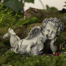 Resin Engel Hund 11-50048 Dekoration Figur Tischdeko Skulptur Flügel Rosenengel