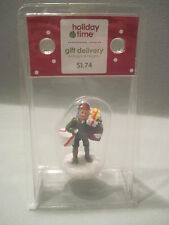 """Holiday Time Christmas Village Accessory """"GIFT DELIVERY""""  VILLAGE FIGURES"""