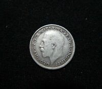 GREAT BRITAIN. SILVER 3 PENCE, 1916. KING GEORGE V.