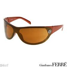 GIANFRANCO FERRE FF58004 Orange Ladies Wrap Style Sunglasses, Made In Italy