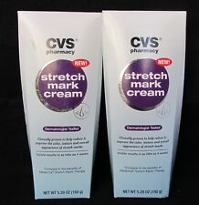 2 Lot CVS Stretch Mark Cream Dermatologist Tested 5.29