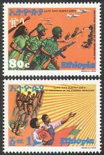Ethiopia 1978 Military/Army/Shooting/Rifle/Helicopters/Planes/Aviation 2v n41151