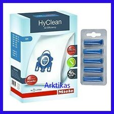 4 x Genuine miele GN HyClean 3d per Aspirapolvere Hoover Sacchetti & Filtri 2 X