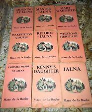 Mazo De La Rocha Chronicles Of The Whiteoak Family H/C D/J (1967) LOT OF 9