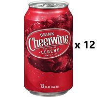 CHEERWINE Soft Drink Soda - Lot of 12 - 12oz Cans - FRESH! 12 Pack