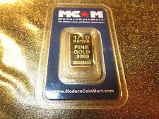 1/10 oz. .9999 Fine Gold Bullion Bar MCM