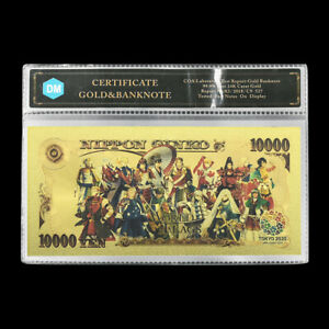2020 Tokyo Olympics Japan Gold Banknote World Flags Anime Cards Souvenirs Gifts