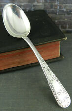 "Kirk & Son 10/15 Coin Silver Mayflower Pattern 4"" Spoon ( Set of 5 )"