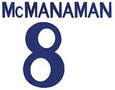 Real Madrid McManaman local Camiseta De Fútbol Número Letra H Fútbol De Impresión De Calor