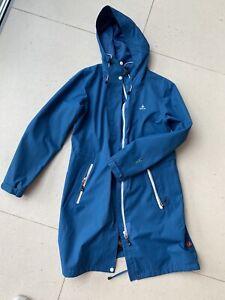 OCK Damen Regenmantel Blau Gr 40 Wasserabweisend Knielang