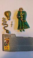 Vintage GI Joe Figure 1986 Serpentor complete figure with file card