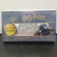 Harry Potter Hogwarts Silver Plated Ticket Limited To 9995 Worldwide