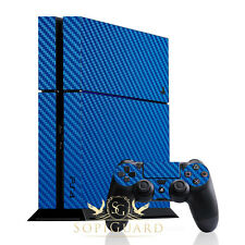 SopiGuard Metallic Blue Carbon Fiber Skin Full Body Sony PS4 PlayStation 4